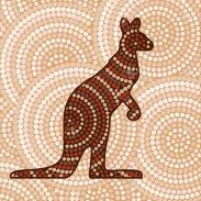dot-paint kangourou